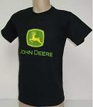 Black Tee Shirt with John Deere Logo