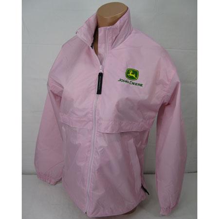 John Deere Ladies' Gildan Heavy Blend Hot Pink Hoodie - STHPH