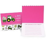 John Deere Pink Party Thank-You Notes (8-pack)