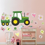 John Deere Pink Giant Removable Wall Decals