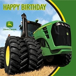 John Deere Tractor Happy Birthday Lunch Napkins Set of 16 - 79625