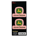 John Deere Pink Stacked Logo Decal Sheet - JD04152
