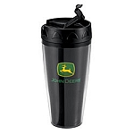 John Deere Voyager Black Travel Mug - JD04169