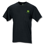 John Deere Black Pocket Tee
