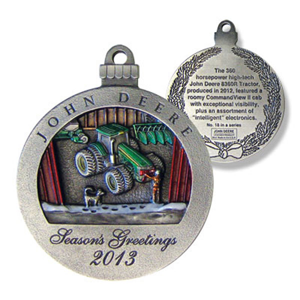 John Deere Limited Edition 2013 Pewter Christmas Ornament - 18th in Series - LP47961