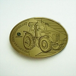 John Deere Contemporary Legends Limited Edition 2005 Gold Belt Buckle 7720 Tractor - JP1005