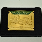 John Deere Contemporary Legends Limited Edition 2006 Gold Belt Buckle 8420T and 8420 Tractors - JP1152