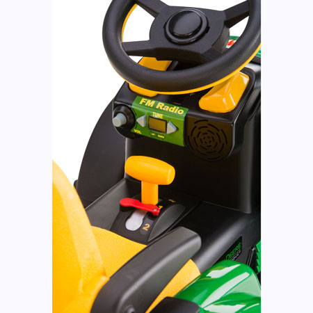 Battery Operated Ride On Toys >> John Deere Kids Ride On 12-Volt Ground Force Tractor with Wagon - Ertl 35890