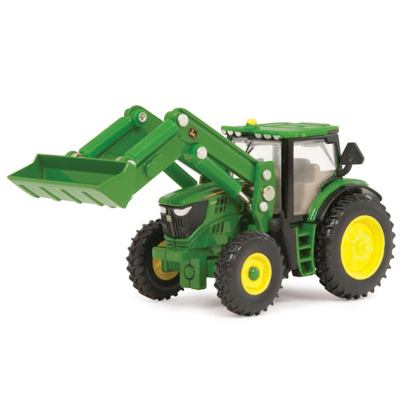 tractors john deere 1 64 scale 6210r toy tractor with front loader ...