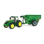 John Deere Big Farm 6210 Tractor with Grain Cart with Lights N Sound - TBEK46284