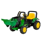 John Deere Plastic Pedal Tractor with Loader - TBEK46291