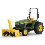 John Deere 1:16 scale 4310 Compact Utility Tractor with Snowblower Toy - 45532