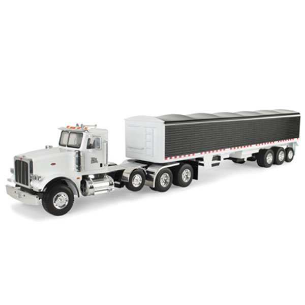 Toy Semi Trucks And Trailers : John deere scale big farm peterbilt model semi