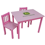 John Deere Kids Pink Table and Chair Set - K2473