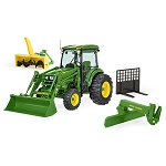 John Deere Big Farm 1:16 scale 4066R Tractor with Implements - LP64457