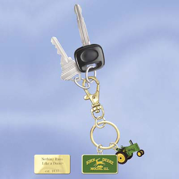 John Deere Bradford Exchange Collector Edition 24K-Gold Key Chain - LP26898