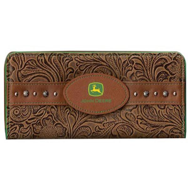 John Deere Ladies Embossed Floral Wallet - 4064000