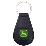 John Deere Black Leather Key Fob with Path Logo - LP53286