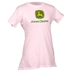 John Deere 2000 Trademark Ladies' Pink T-shirt - 23000000PK