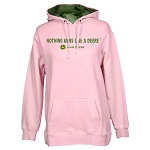 John Deere Nothing Runs Like a Deere Ladies' Pink Heavy-Fleece Hoodie - 23200003PK