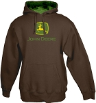 John Deere 2000 Trademark Brown Heavy-Fleece Hoodie- 13020000BW