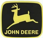 John Deere Leaping Deere Trademark Decal Yellow Black