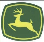 John Deere Leaping Deere 2000 Trademark Logo Decal Yellow Green