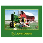 John Deere Clean and Shiny Extra Thick Fleece Blanket - LP26921