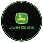 John Deere Round Metal Sign - 10116