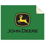 John Deere Trademark Sherpa Fleece Blanket - LP48801
