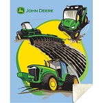 John Deere Tractors and More Sherpa Fleece Blanket - LP48802