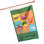 John Deere Double-Sided Patchwork Design Flag - 15132