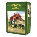 John Deere 1000-Piece Puzzle in Collectible Tin - Tractor Ride - 71233