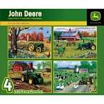 John Deere 4-pack 500-Piece Puzzle Set - LP50032
