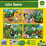 John Deere 4-pack 100-Piece Puzzle Set - LP53798