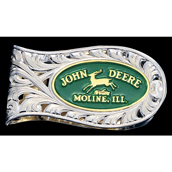John Deere Montana Silversmiths Silver Money Clip - MSCL60710