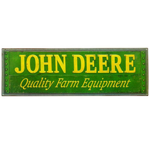 John Deere Quality Farm Equipment Tin Sign Lp67206