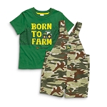 John Deere Born To Farm Toddler Shortall Set - JSBS013G1T1