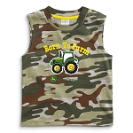 John Deere Born To Farm Camo Sleeveless Toddler T-Shirt - JSBT015J1T1