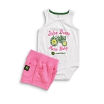 John Deere Farm Baby Infant Onesie and Short Set - JSGS011W1F1