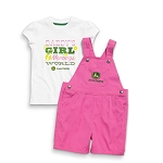 John Deere Daddy's Girl Toddler Shortall Set - JSGS013W1T1