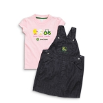 John Deere Pink & Denim Toddler Jumper Set - JSGS014P1T1