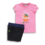 John Deere Pretty As A Peach Toddler T-Shirt and Short Set - JSGS017P2T1