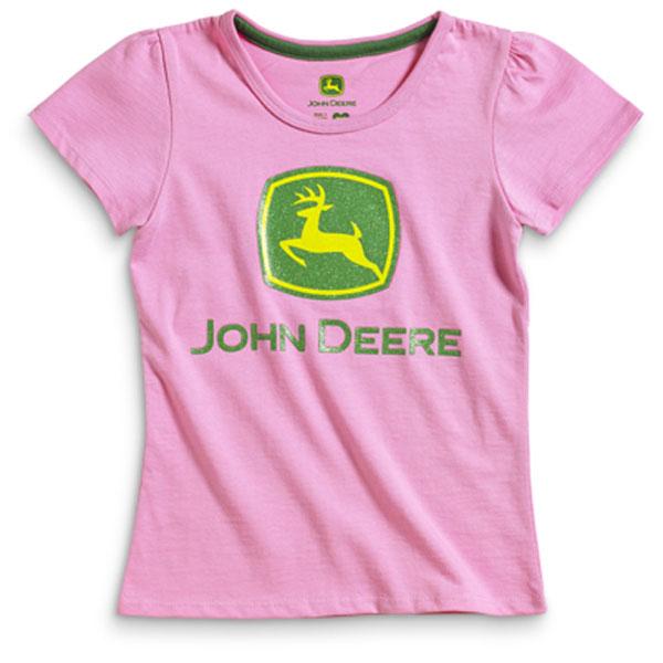 John Deere Pink Youth T Shirt Jsgt013p2y3