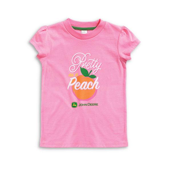 John deere pretty as a peach children 39 s t shirt jsgt026p2c2 for John deere shirts for kids