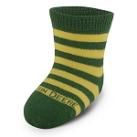 John Deere Infant Crew Socks Green with Yellow Stripes - LP51290 - LP51291