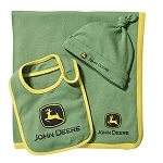 John Deere Green Infant Blanket and Bib Set - LP53829