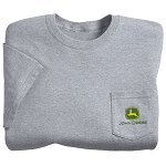 John Deere Gray Trademark Pocketed T-Shirt - ST101208