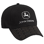 John Deere Black Fitted Chrome Trademark Cap - ST100841
