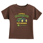 John Deere Toddler I'd Rather Be Farming with Grandpa T-Shirt - ST20393